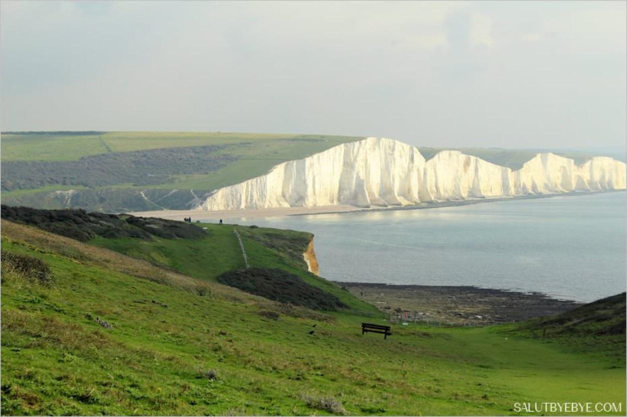 Le parc naturel de Seven Sisters dans le Sussex en Angleterre
