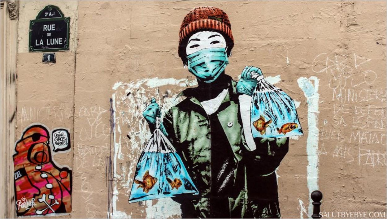 Street Art à Paris dans le Sentier