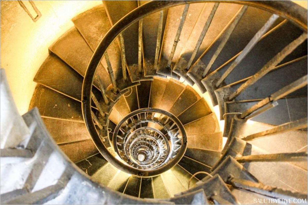L'escalier du Monument au Grand Incendie de Londres