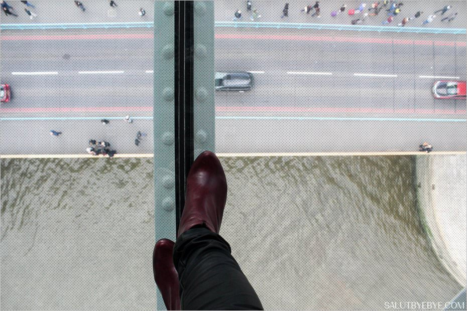 Le plancher de verre de Tower Bridge