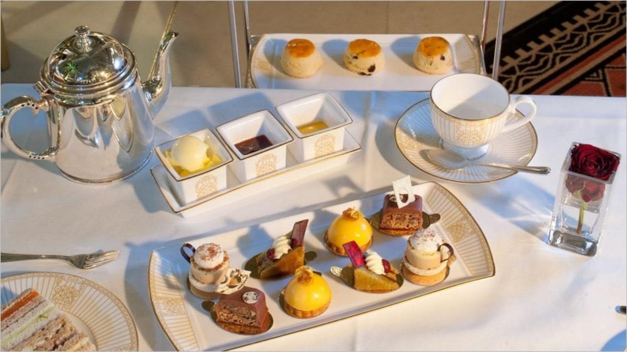 L'afternoon tea du Landmark Hotel à Londres
