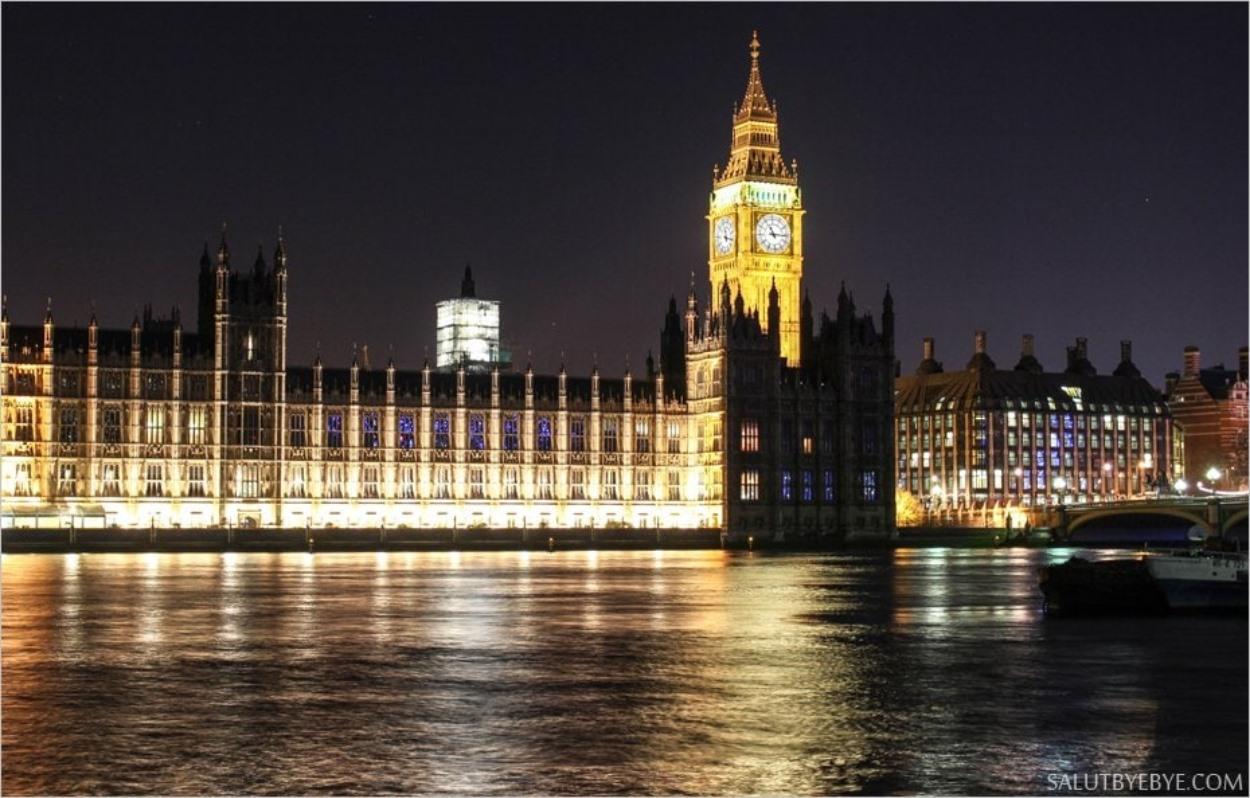 Les Houses of Parliament de nuit