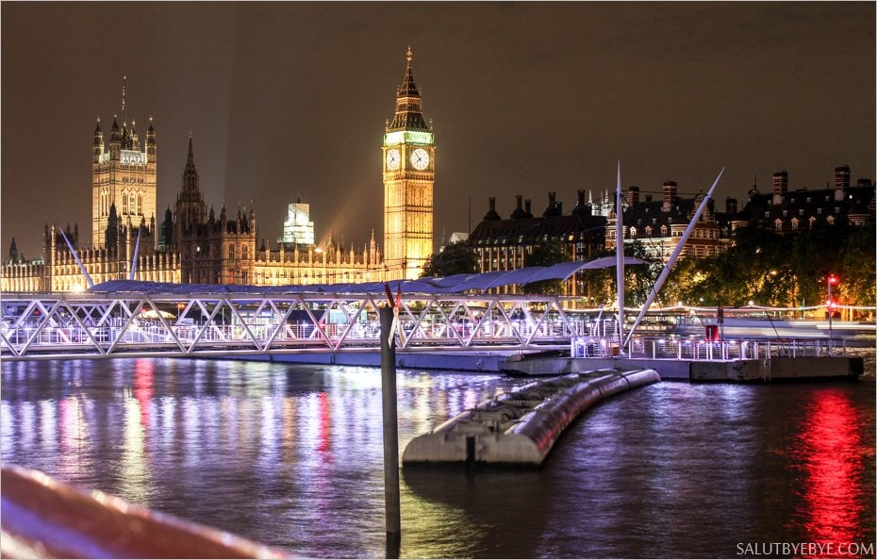 Le Palais de Westminster et la Tamise