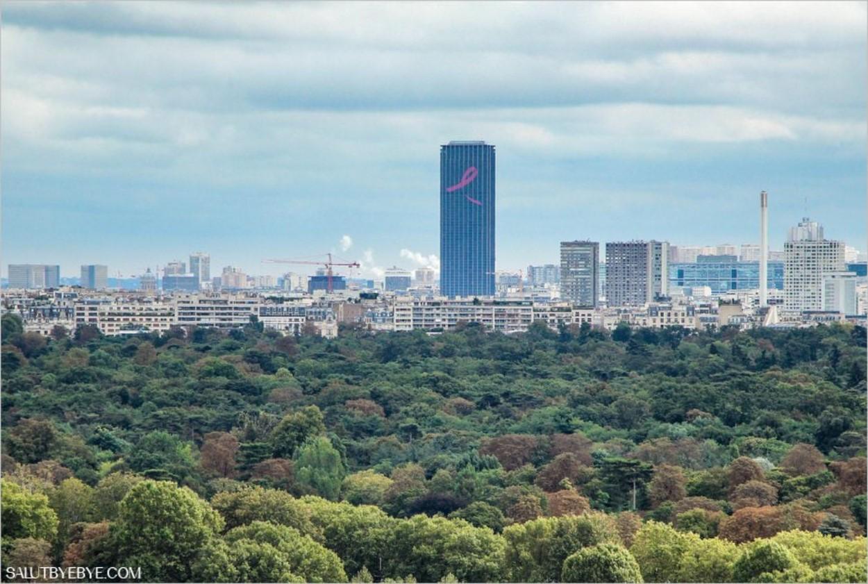 La Tour Montparnasse vue depuis le Mont Valérien à Suresnes