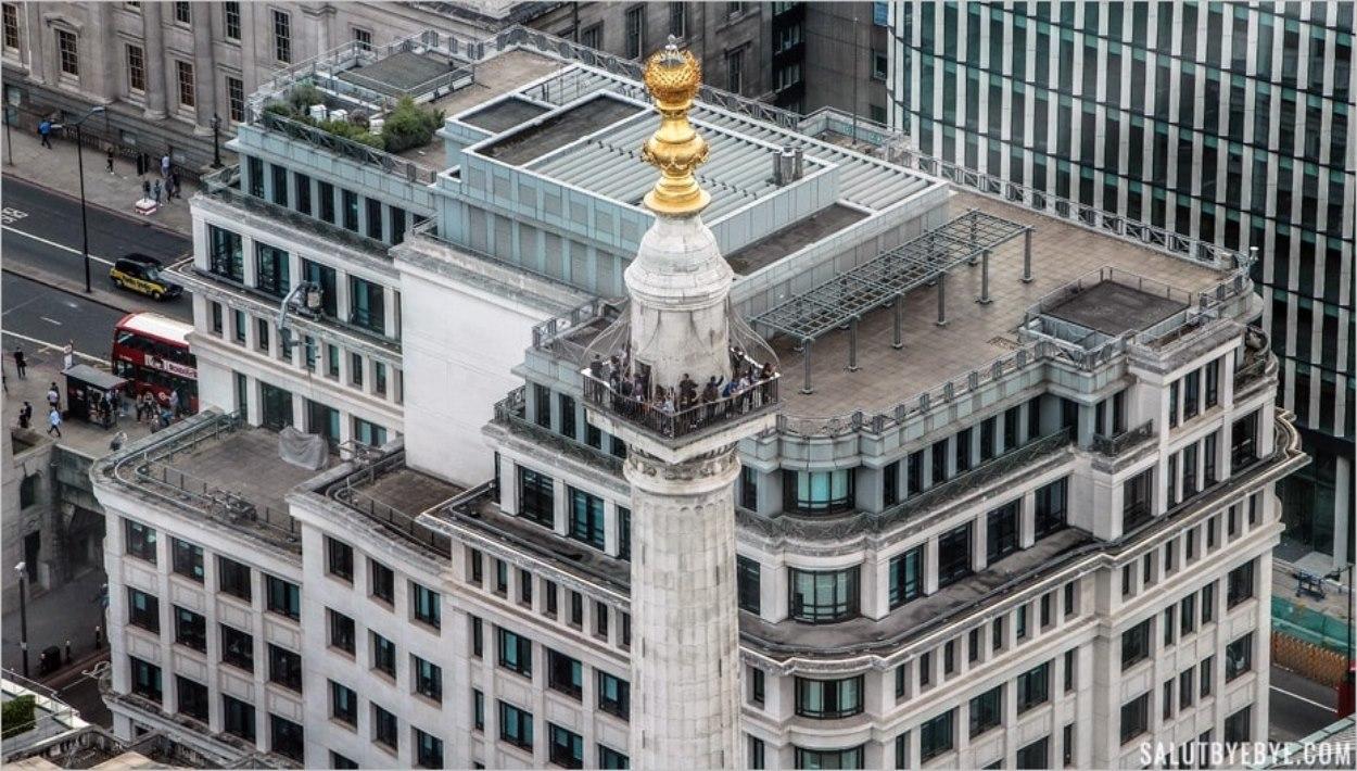 Le sommet du Monument à Londres