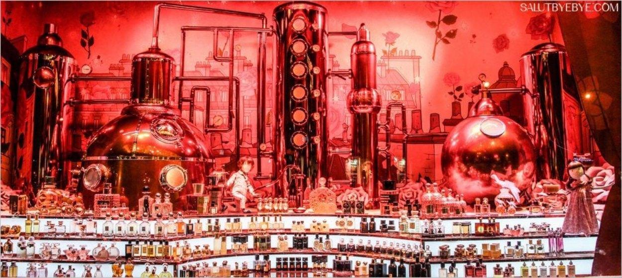 Vitrines de Noël 2016 au Printemps Haussmann - L'orgue à parfums