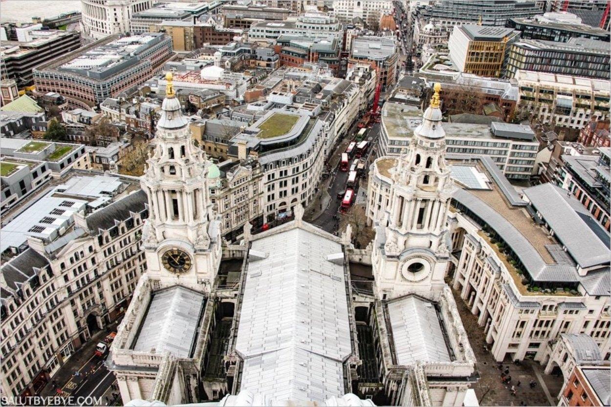 La cathédrale Saint Paul vue depuis le dôme