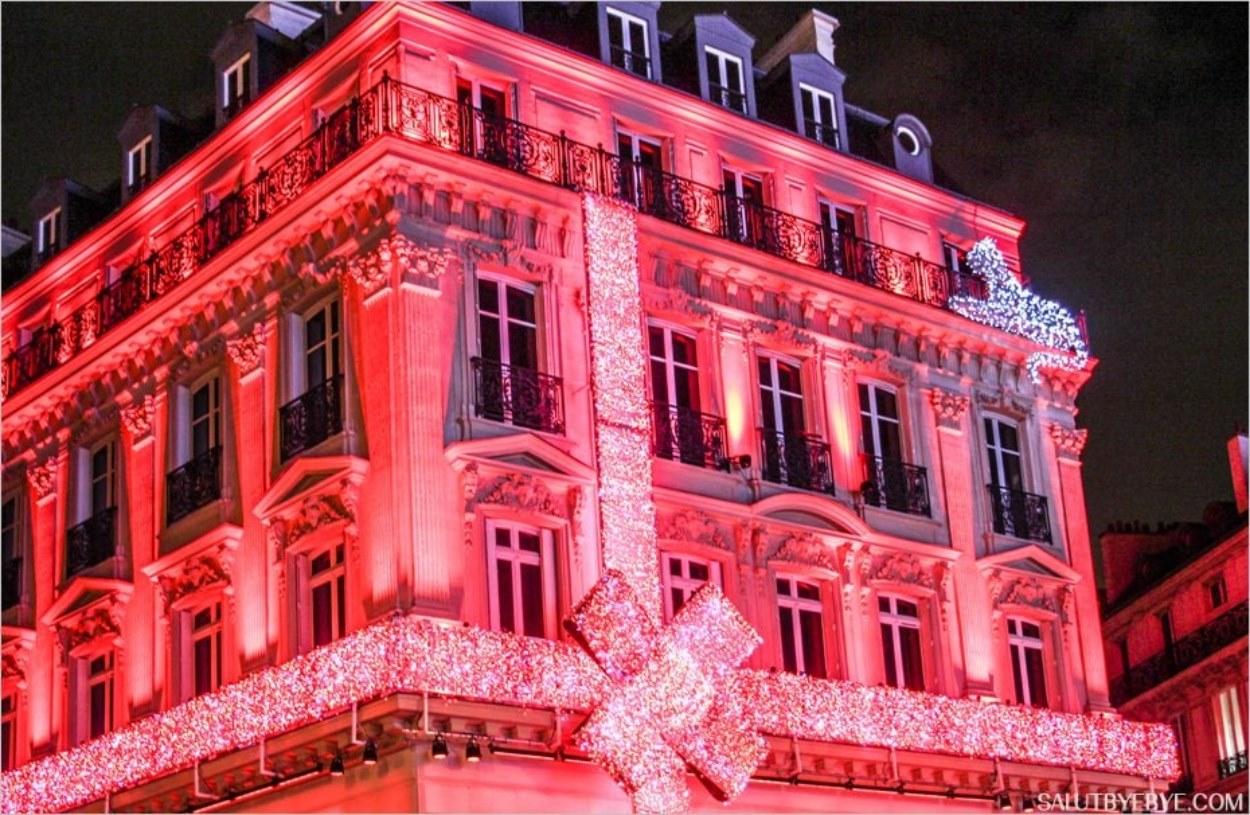 La façade de Cartier sur les Champs-Elysées