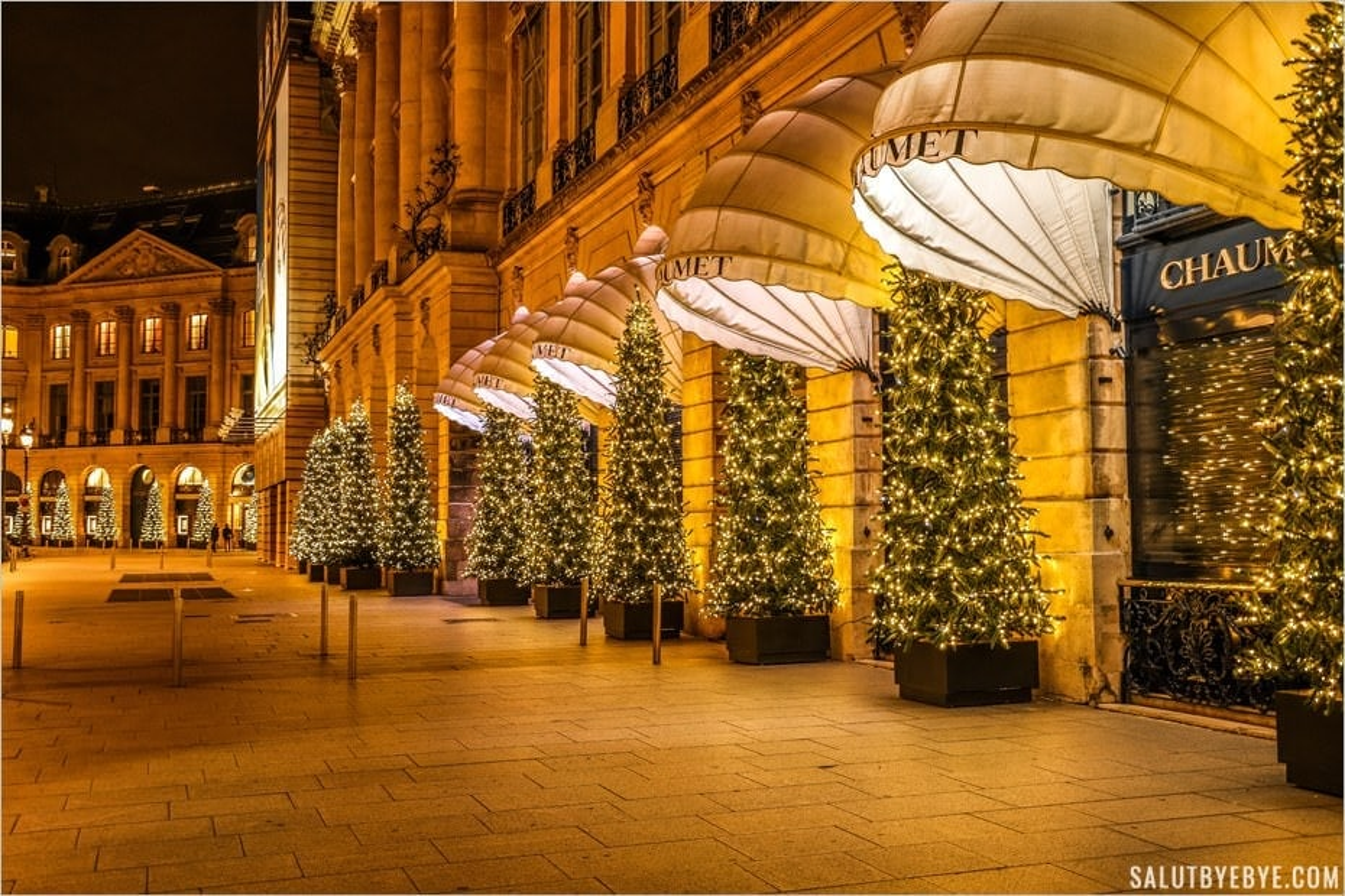Place Vendôme à Noël