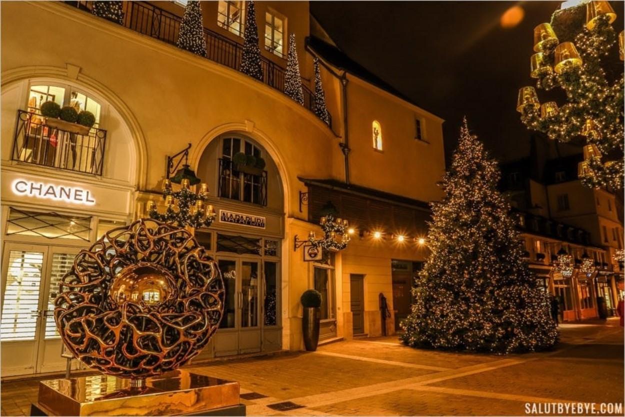Village Royal à Paris au moment de Noël