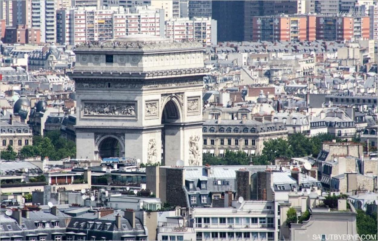 L'Arc de Triomphe, bien visible