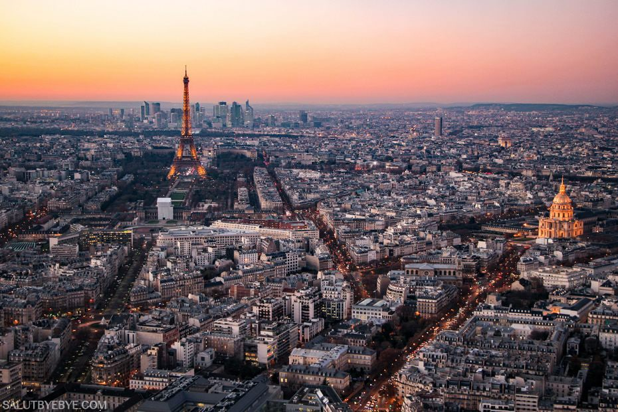 Vue depuis la Tour Montparnasse à Paris