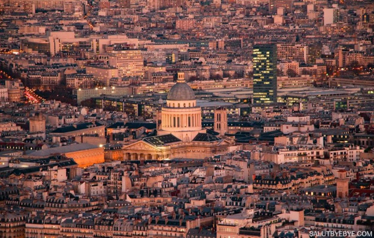 Le Panthéon vu depuis la Tour Montparnasse