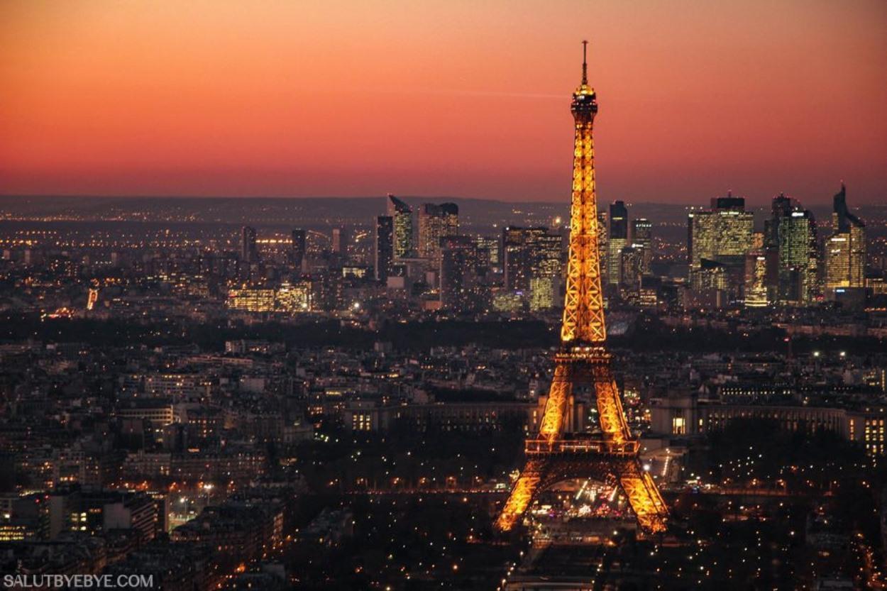 La Tour Eiffel et la Défense depuis la Tour Montparnasse