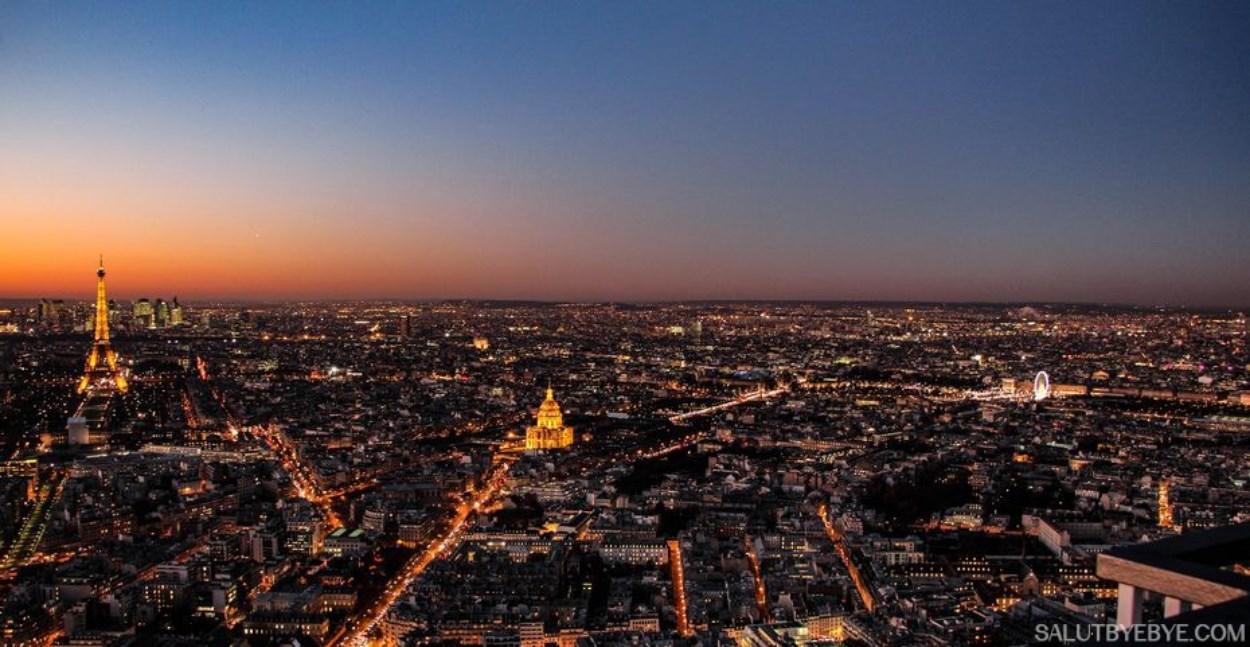 Une vue inoubliable sur Paris de nuit