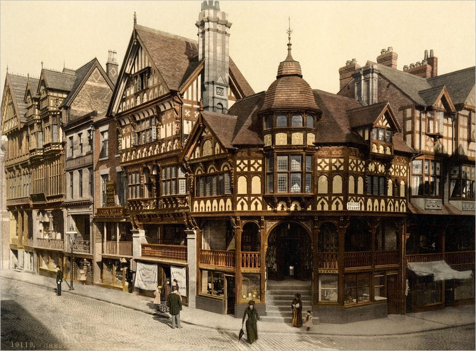 Les Chester Rows en Angleterre