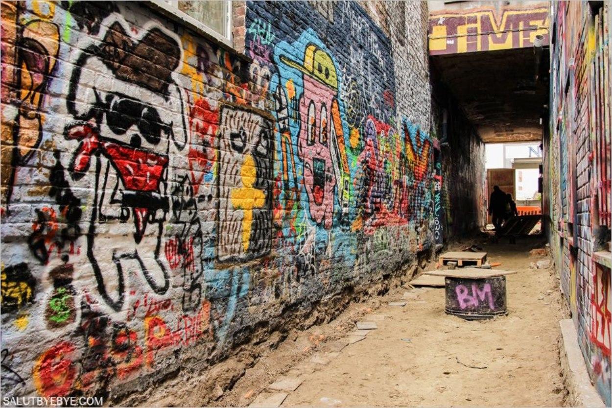 Werregarenstraatje, la ruelle aux graffitis