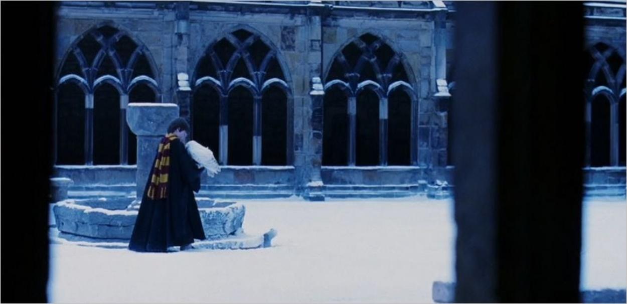 Le cloître de la cathédrale de Durham dans Harry Potter