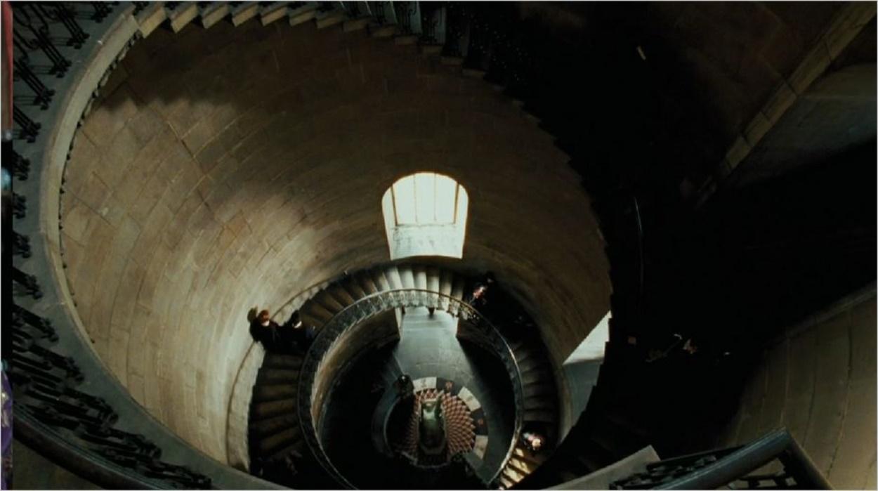 L'escalier du cours de divination