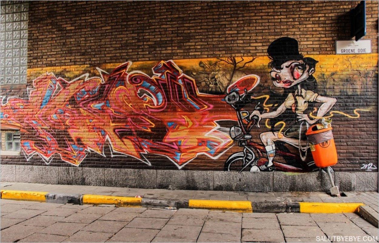 Street art à Gand - La Groene Ooie