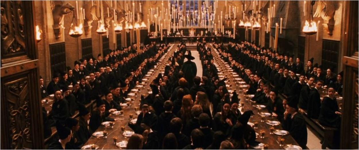 Grande Salle de Poudlard dans les films