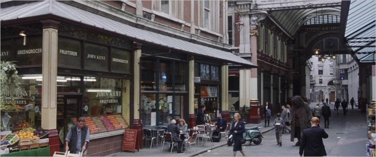 Le Leadenhall Market dans Harry Potter à l'Ecole des Sorciers