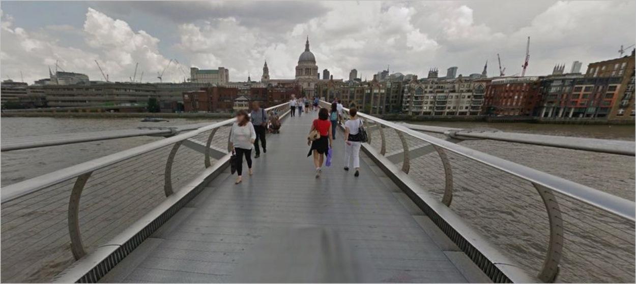 Le Millenium Bridge à Londres