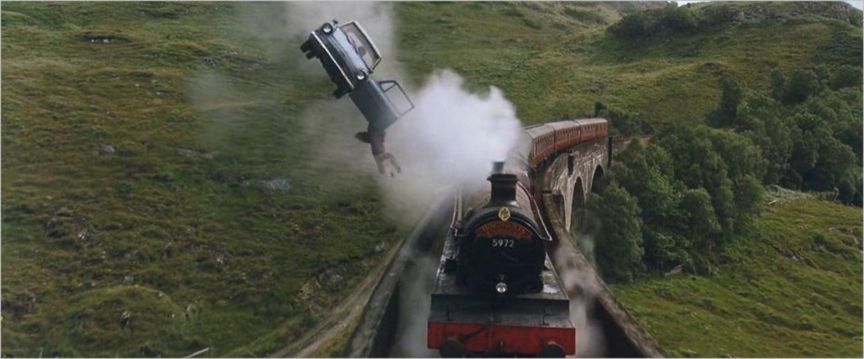Le Poudlard Express sur le viaduc de Glenfinnan