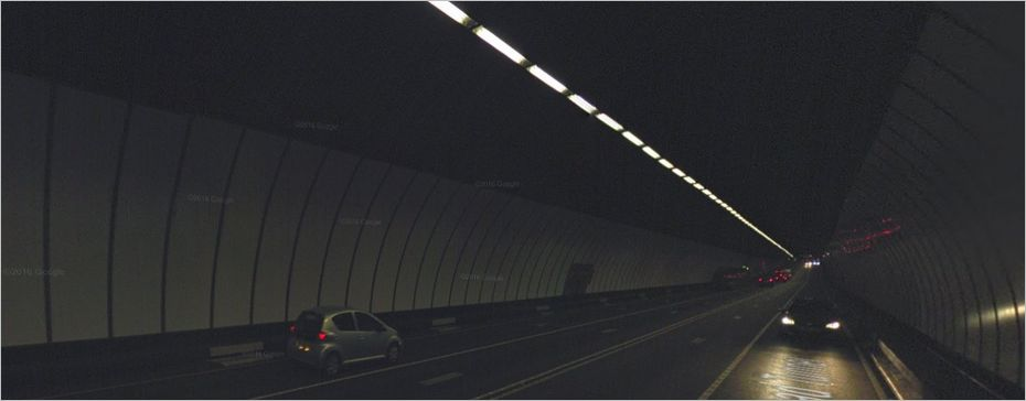 Le Queensway Tunnel en vrai