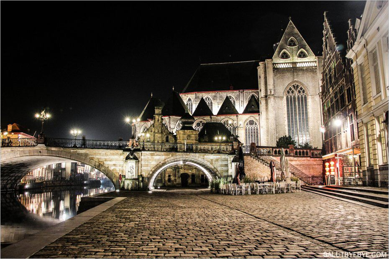 Visiter Gand de nuit en Belgique, une promenade inoubliable