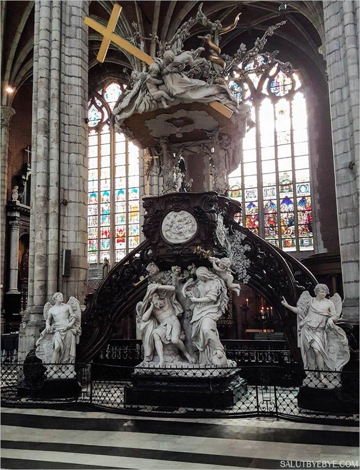 La chaire de la cathédrale Saint Bavon à Gand