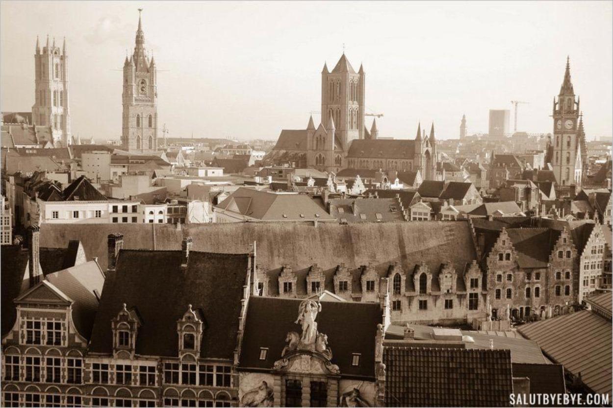 Gand en Belgique et ses clochers