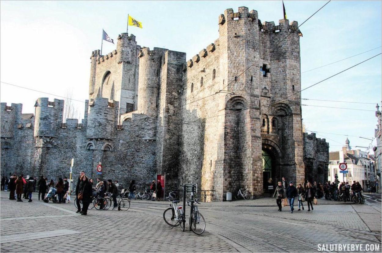 Gravensteen, le château des Comtes de Flandre à Gand en Belgique