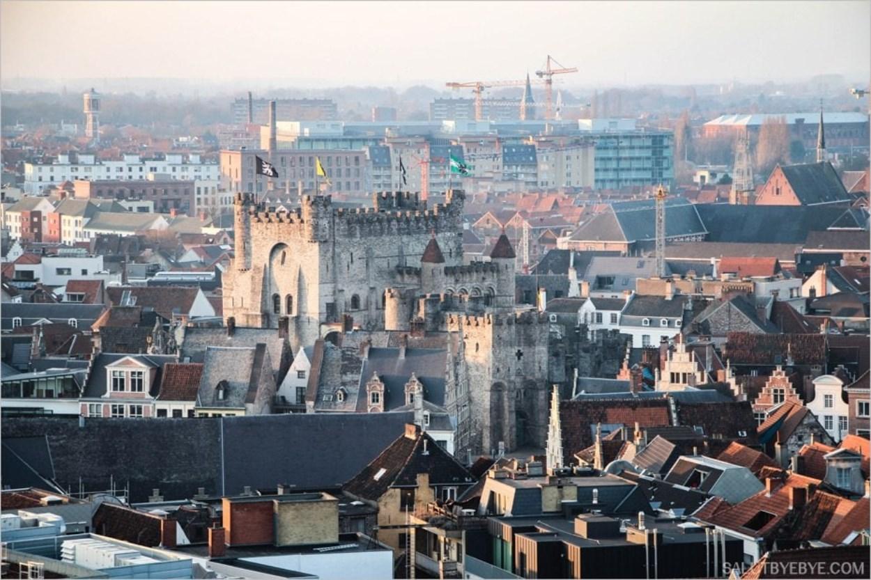 Le château de Gravensteen à Gand en Belgique