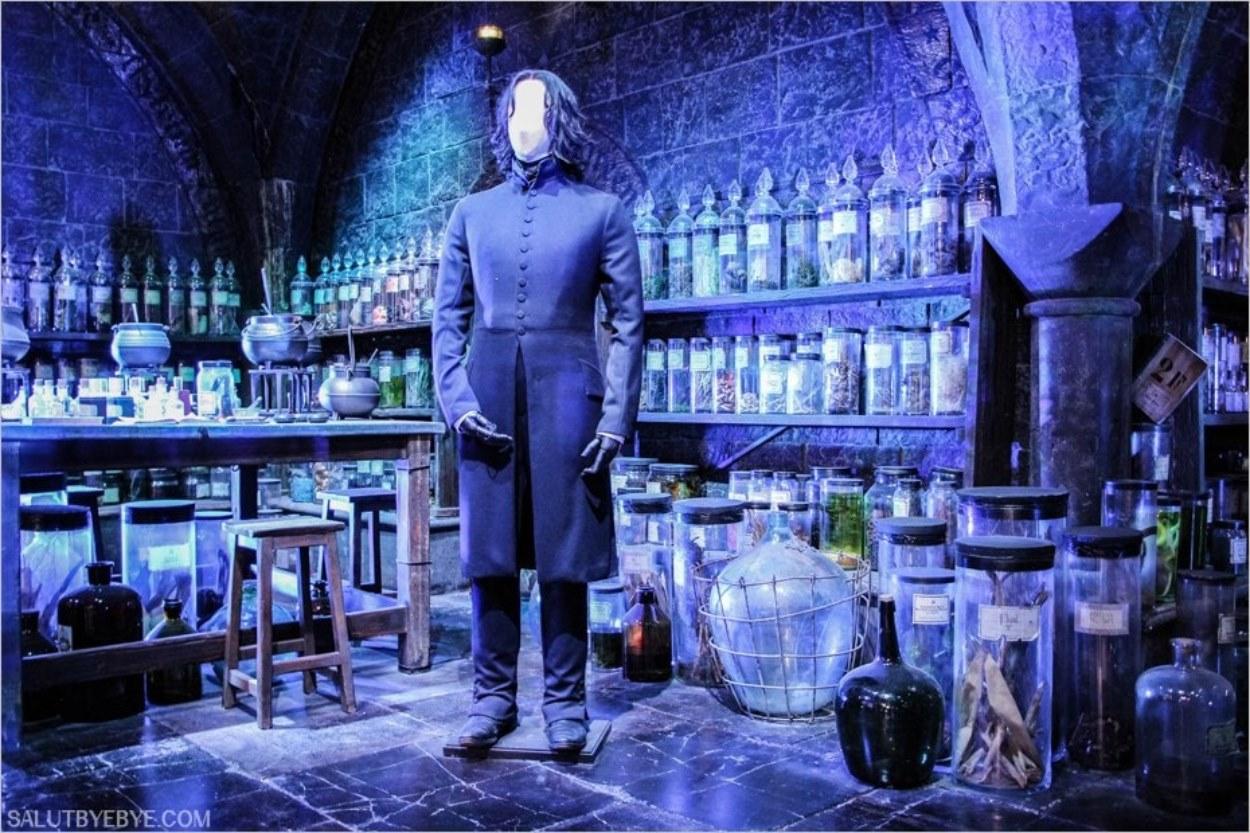 Severus Rogue dans sa classe à Poudlard - Harry Potter Studio Tour