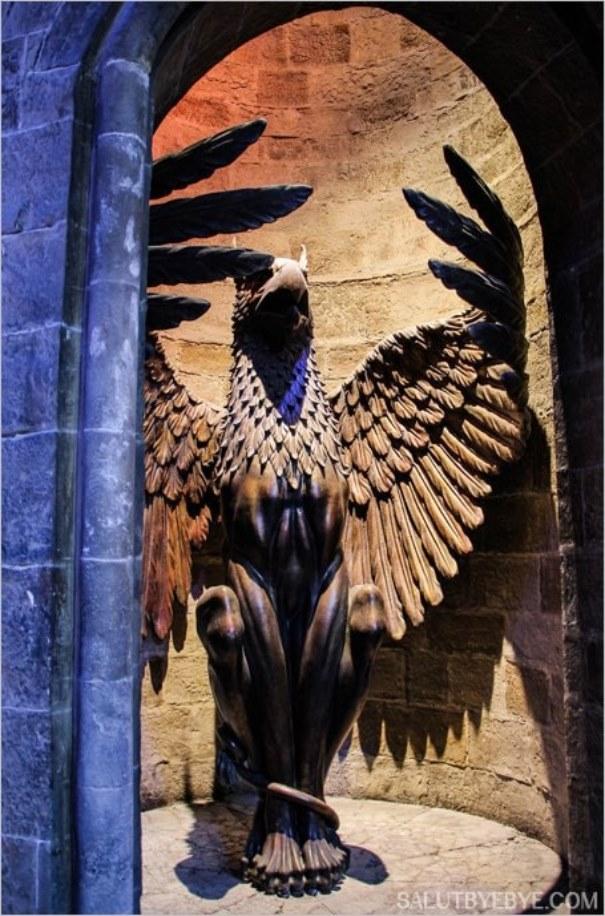 L'entrée du bureau de Dumbledore
