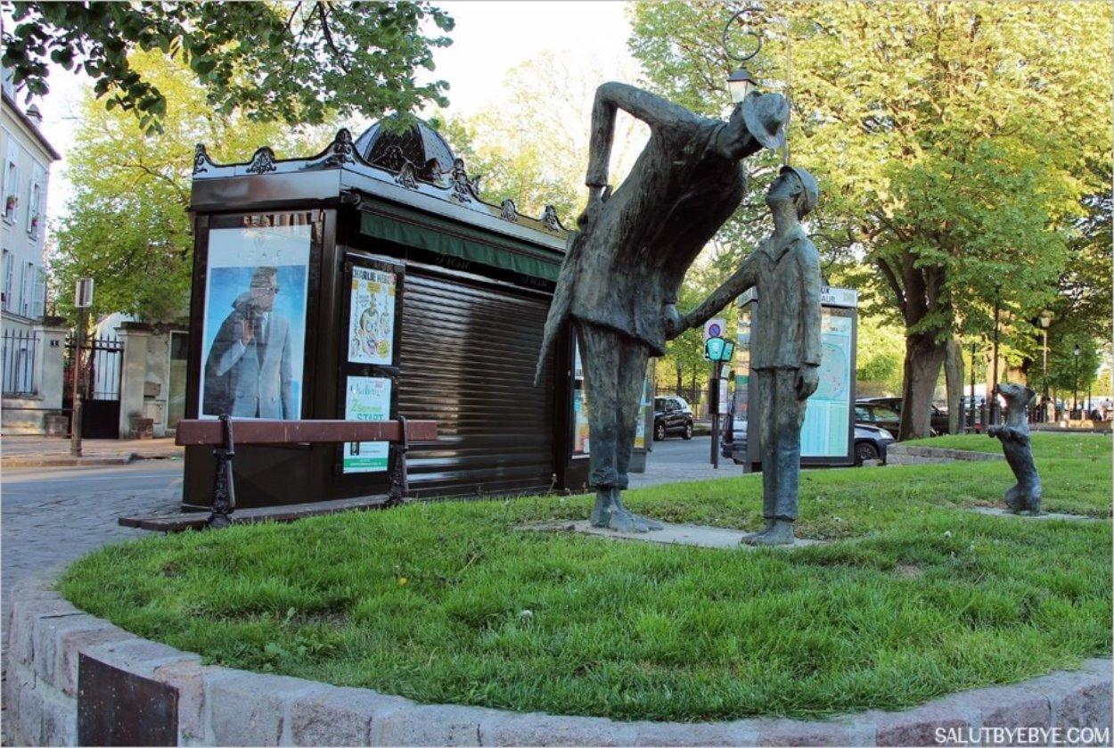 Statue hommage à Jacques Tati