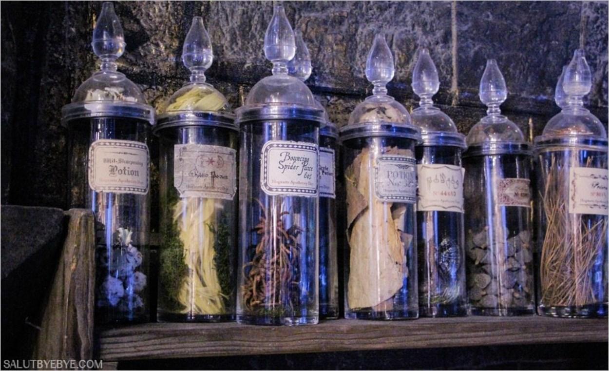 Ingrédients pour le cours de Potions