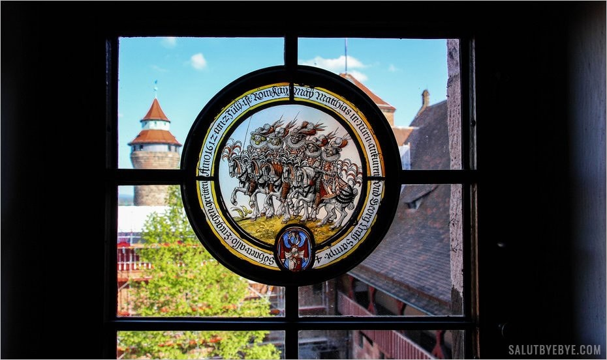 Détail d'une vitre du Kaiserburg