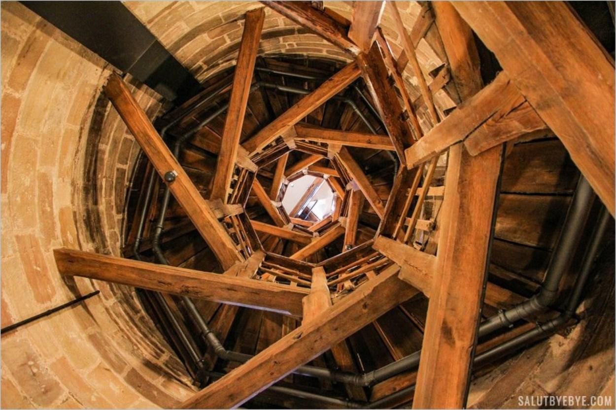 L'escalier magnifique de la Sinwellturm