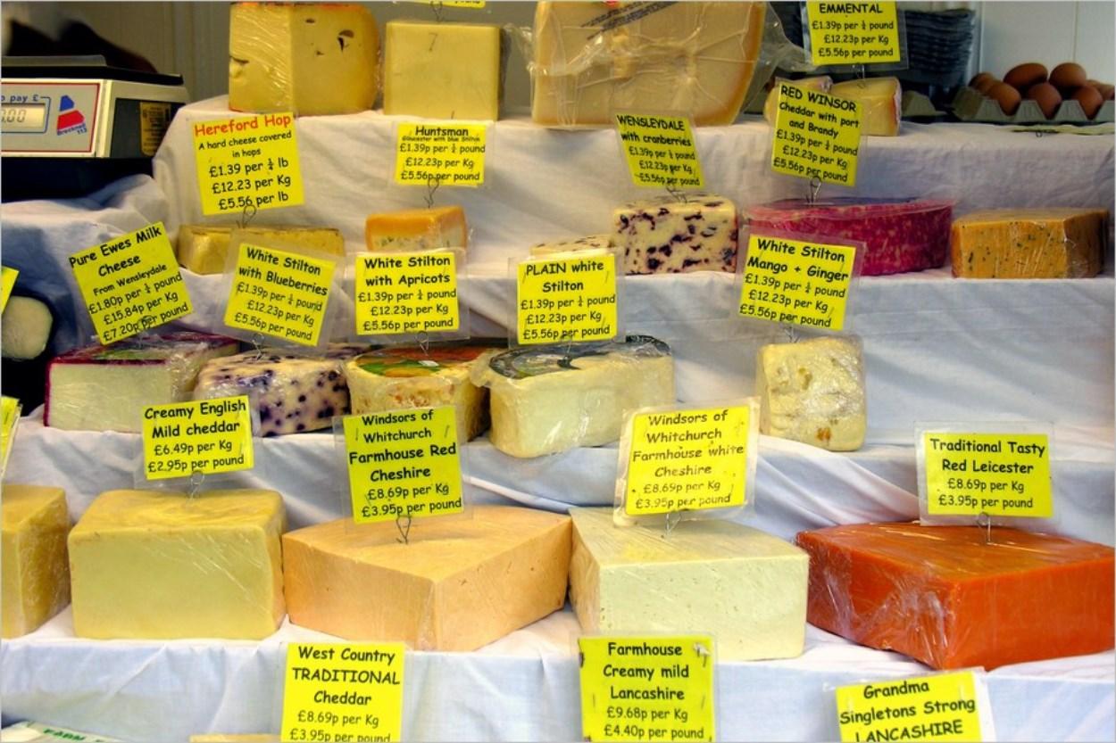 Un plateau de fromages anglais