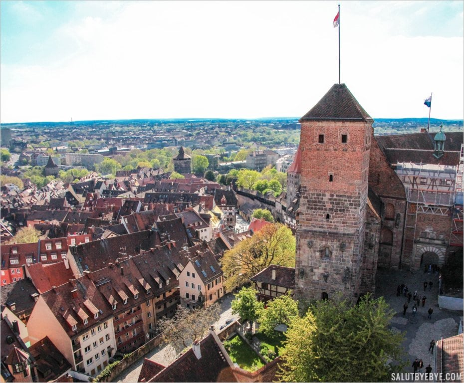La Heathens' Tower du château de Nuremberg