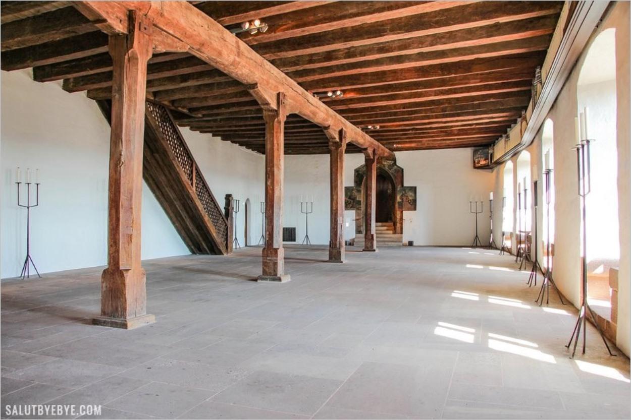 A l'intérieur du Kaiserburg de Nuremberg