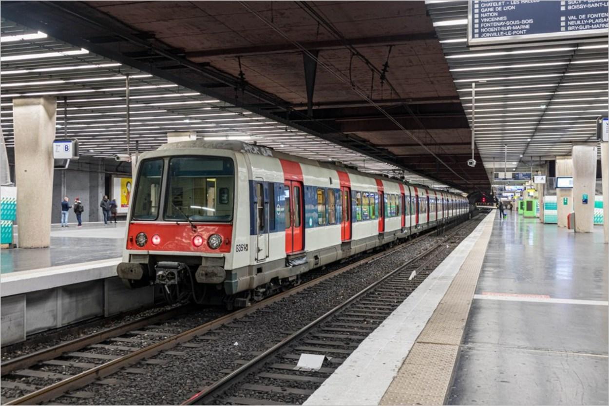 Un RER à Paris