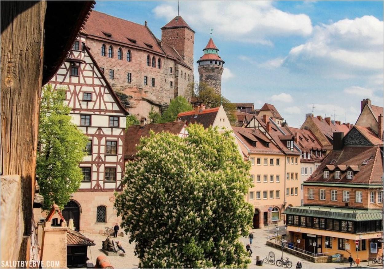 Visite du château de Nuremberg, le Kaiserburg