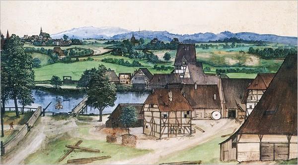 La tréfilerie sur la Pegnitz à Nuremberg