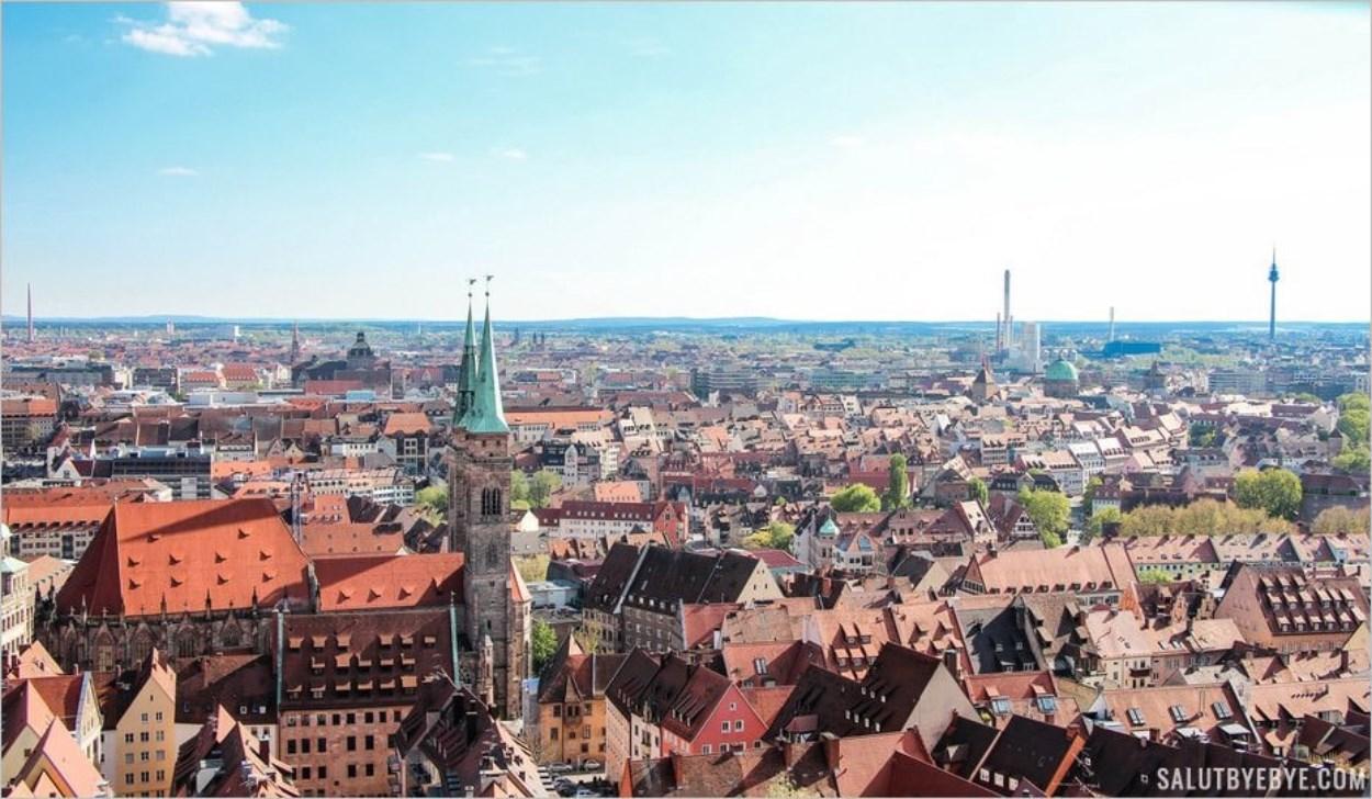 Vue sur Nuremberg depuis la Sinwell Tower
