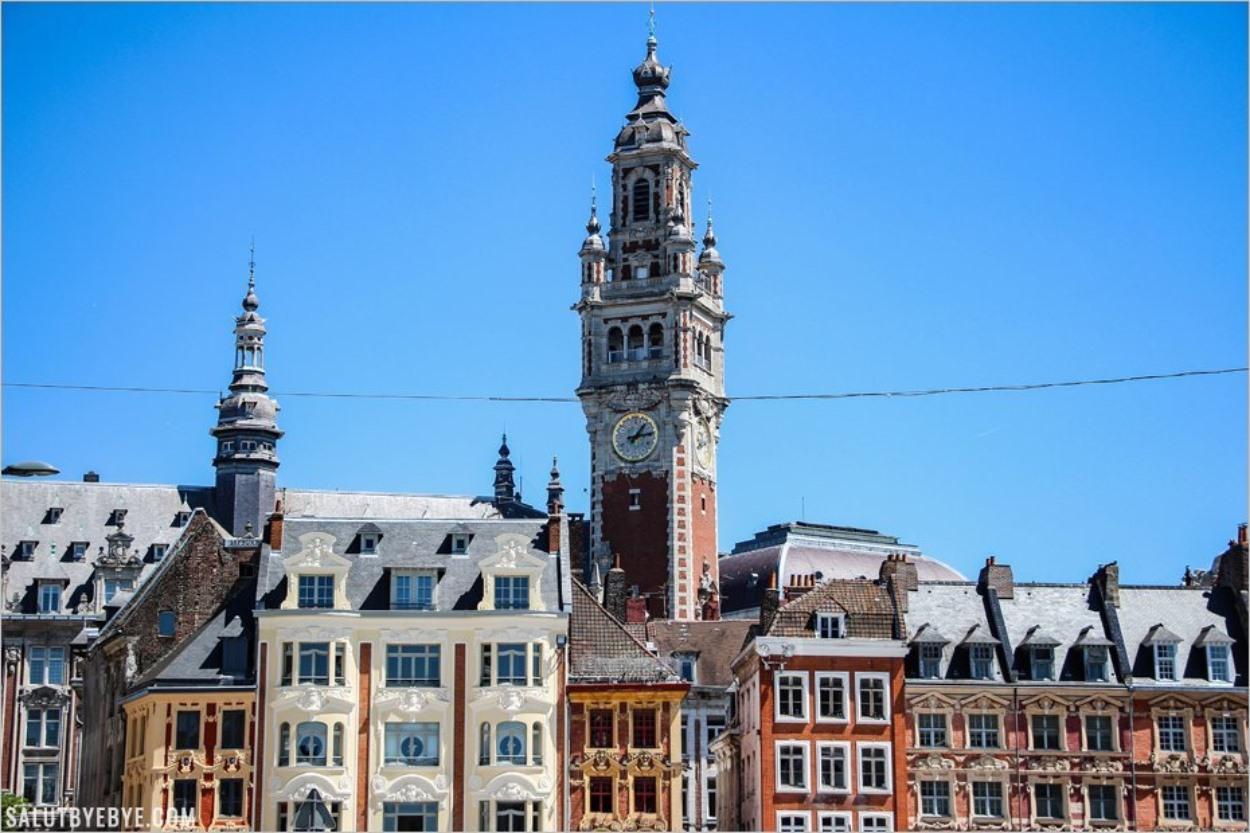 Dans le centre ville de Lille