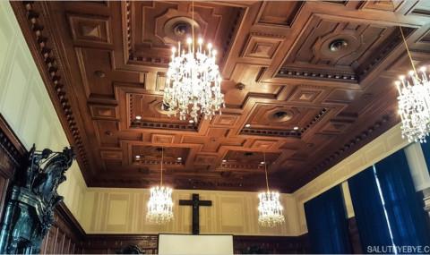 Visite du Palais de Justice de Nuremberg et de la salle d'audience n°600