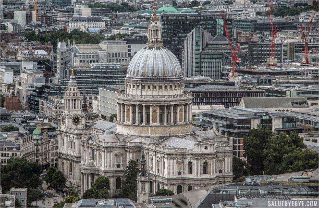 La cathédrale Saint-Paul vue depuis le SkyGarden à Londres